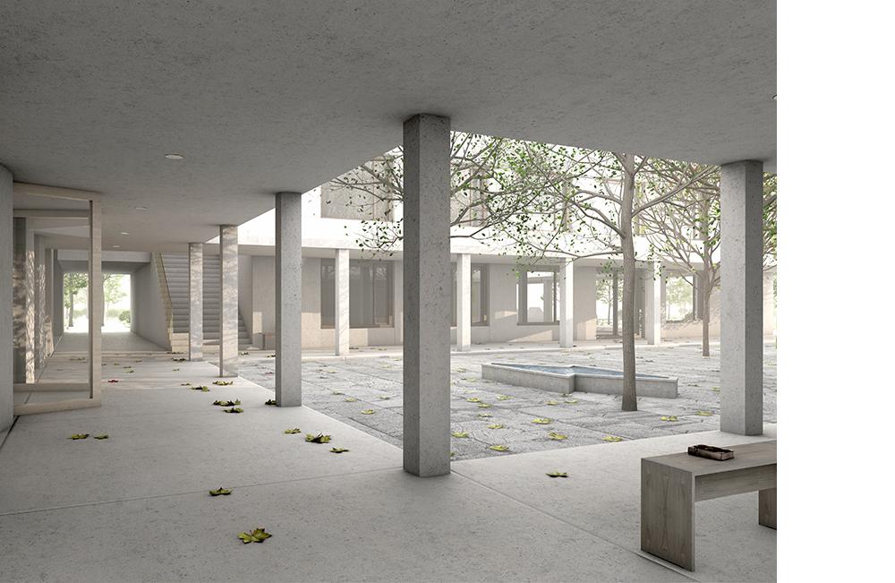 0002_Bass_Bi_1311_003_im Gang Bildarbeit Für Vecsey Schmidt Architekten, 2014